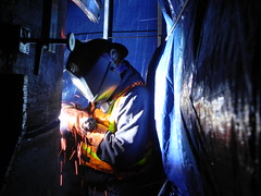 welding, darkness,