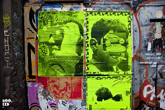 A.CE & Tim Head, Street Art Pasteups in London. Photo ©Hookedblog 2013