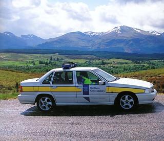 Northern Constabulary Volvo patrol car Spean Bridge 2000