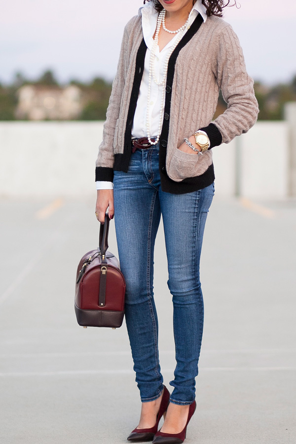 loft-tipped-cable-cardigan-petite-fashion-blogger-los angeles
