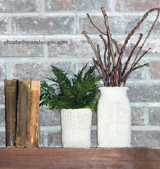 knit vase