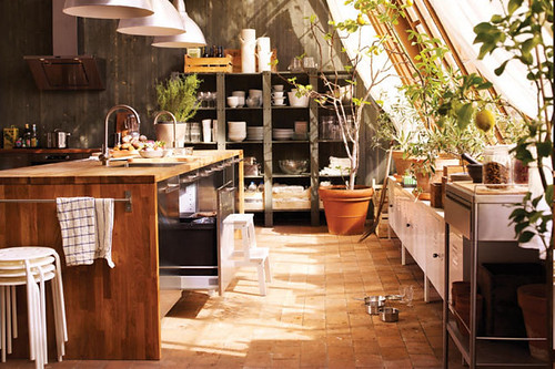 Rustic Industrial IKEA Kitchen