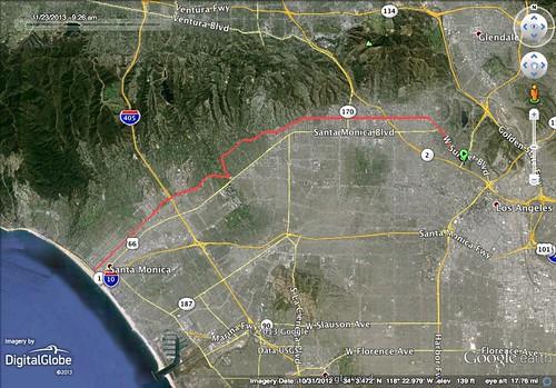Great LA Walk 2013 GPS Route