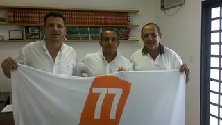 O ex-prefeito de Quatá (SP), Marcelo Pecchio, o coordenador regional do Solidariedade Fábio Pereira e o ex-prefeito de Iepê, Faiad Zakir