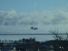 2013 12 07 Thunder Bay Harbour Ships in the clouds