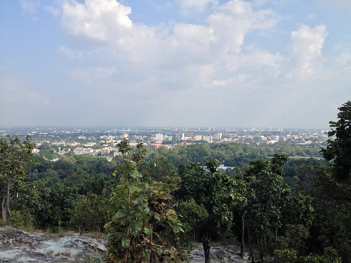 View of Chiang Mai from the trail