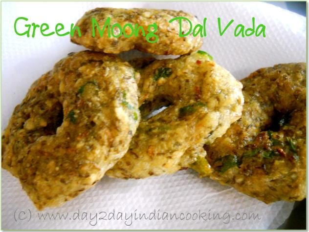 recipe of making green moong dal vada, famous south indian snack