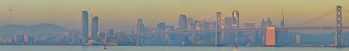 sanfrancisco california city morning bridge winter panorama orange color skyline port sunrise oakland bay nikon december large panoramic baybridge bayarea eastbay d200 80 stitched alamedacounty portofoakland 2013