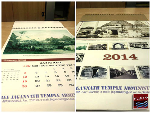 Newly-released 'pictorial' calendar by the Jagannath Temple Administration in Puri