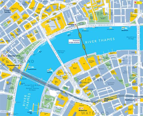 英國建築師 Thomas Heatherwick 之倫敦泰晤士河上花園橋 Garden Bridge