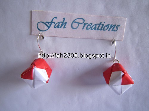 Handmade Jewelry - Origami Paper Box Earrings (1) by fah2305