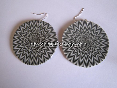 Handmade Jewelry - Card Paper Disk Earrings (5) by fah2305