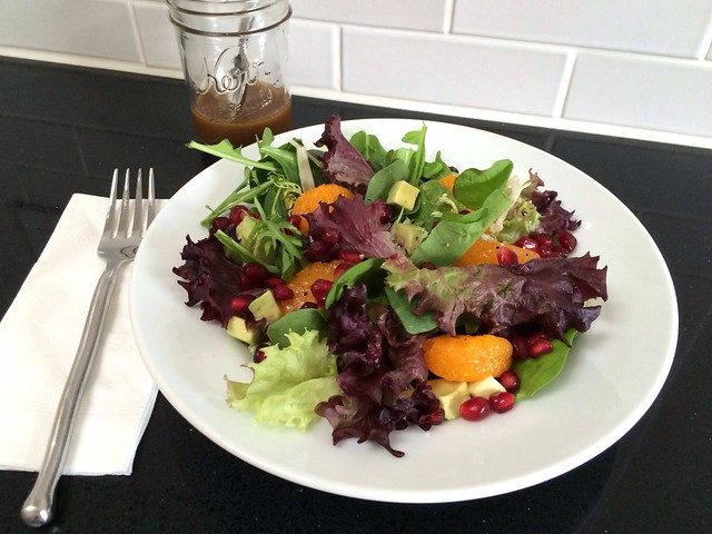 Salad of Mixed Greens and Winter Fruits