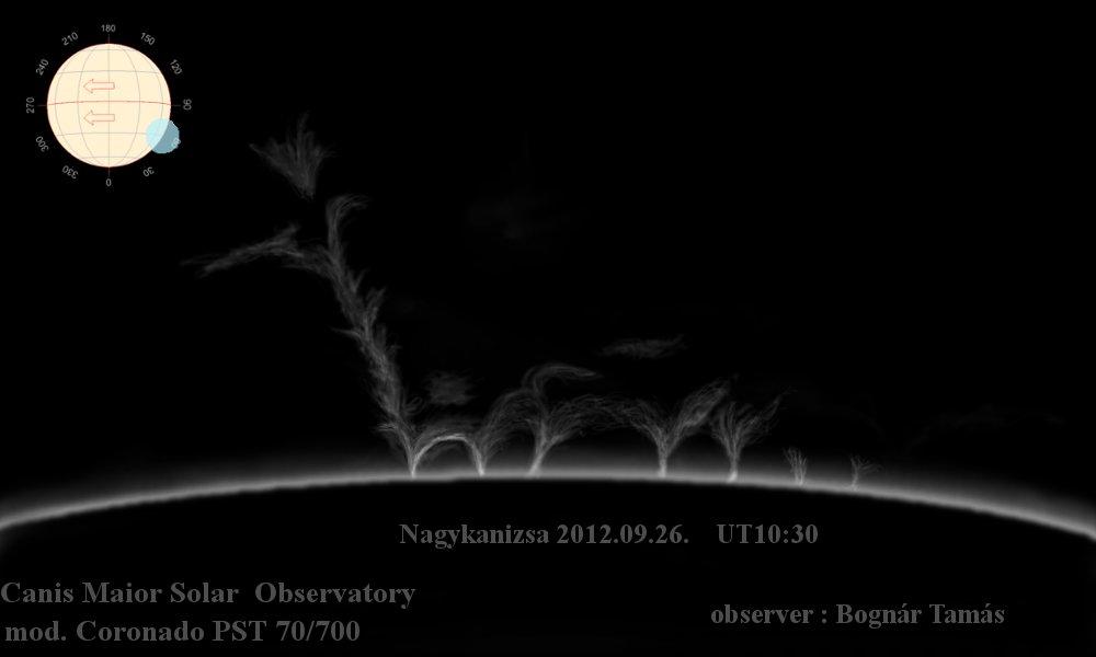 Protuberancia - 2012.09.26. - Bognár Tamás - CMA Observatory