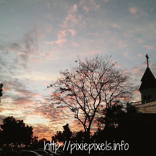 Sunday's sunset sky