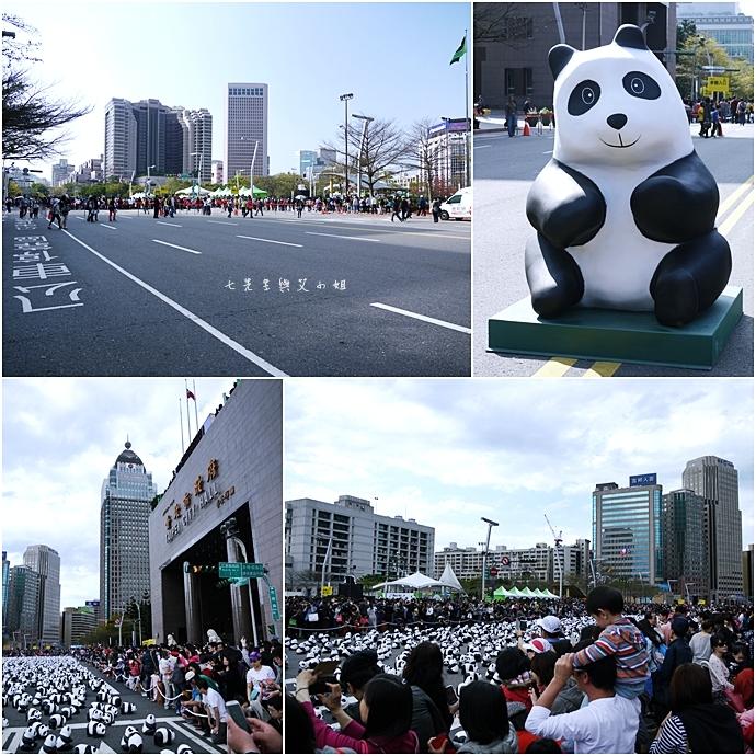 1 紙貓熊 1600貓熊之旅-台北 0224 台北市政府廣場展覽