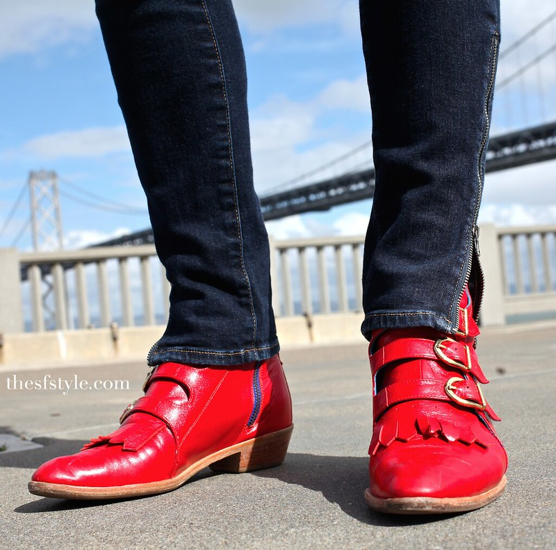 Jett boots Modern Vice, red boots, san francisco streetstyle fashion blog,