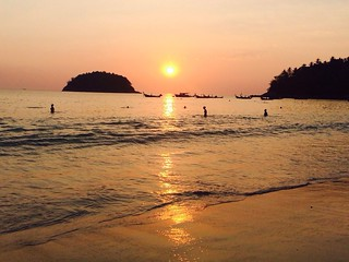 Sunset at Kata Beach Phuket Thailand