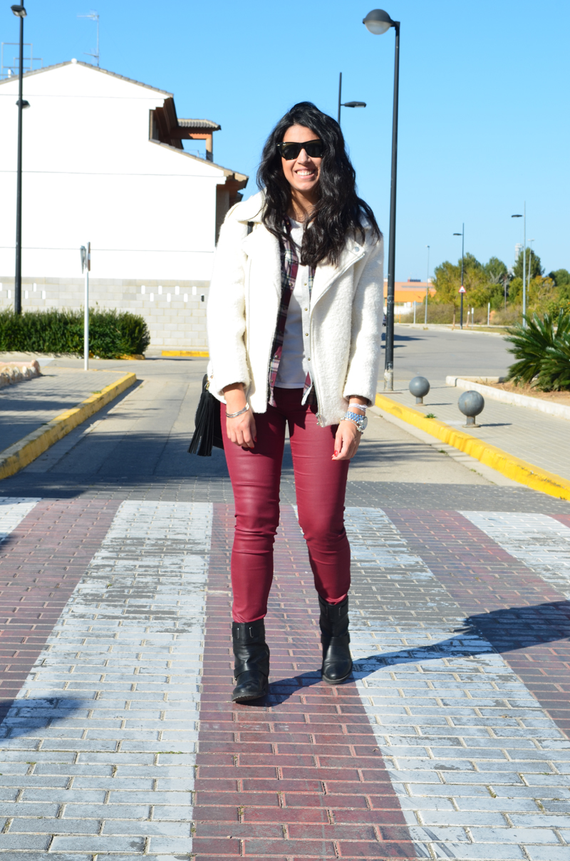 florenciablog total look burgundy inspiration burgundy look granate fieltro jacket cream jacket gandia españa bloggers (5)