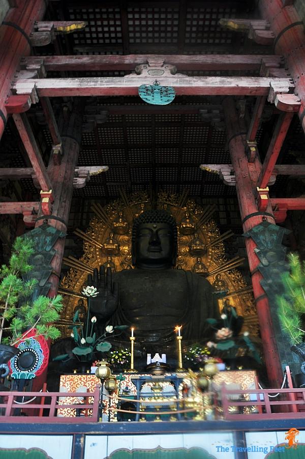 Japan Visiting The Big Buddha At The Todai Ji Temple In Nara