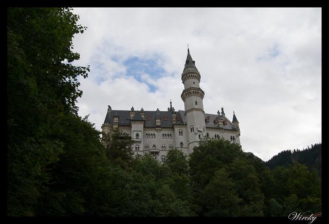 Castillo Schloss Neuschwanstein visto desde el camino