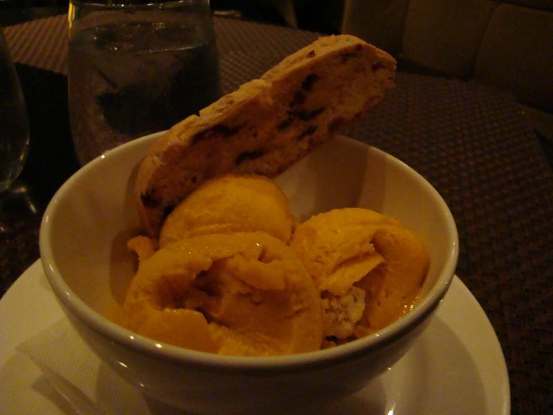 360 Restaurant mango sorbet