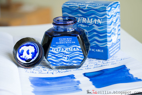 Waterman Blue ink bottle