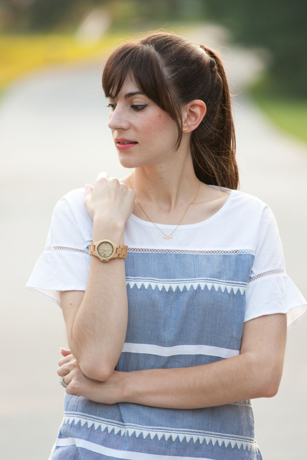 Jord Watch, J.Crew Flutter Sleeve Top