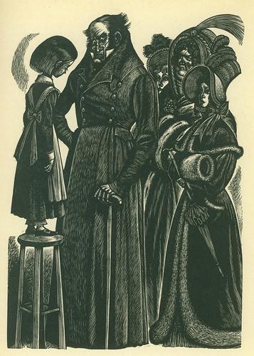 Woodcut from Jane Eyre, 1943 Random House