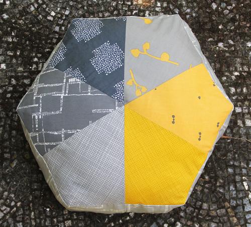 Imprint hexi kite pillows