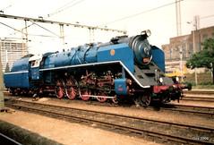 Tsjechische stoomloc ČSD 498.022, ook wel Albatros genoemd, Utrecht 1989. Dit in het kader van Treinen door de tijd ook wel NS 150 genoemd.