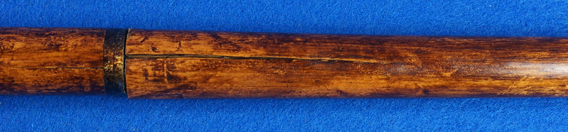 RD15449 Vintage Serpent Style Cobra Snake Head BRASS Handled Cane Walking Stick DSC09271