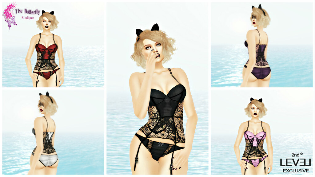 Nicole Lace Lingerie Exclusive Set @2nd Level NOW - SecondLifeHub.com