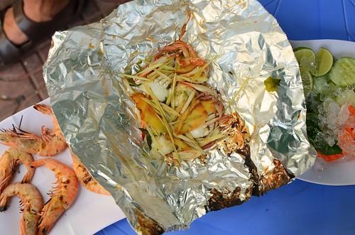 crab in foil