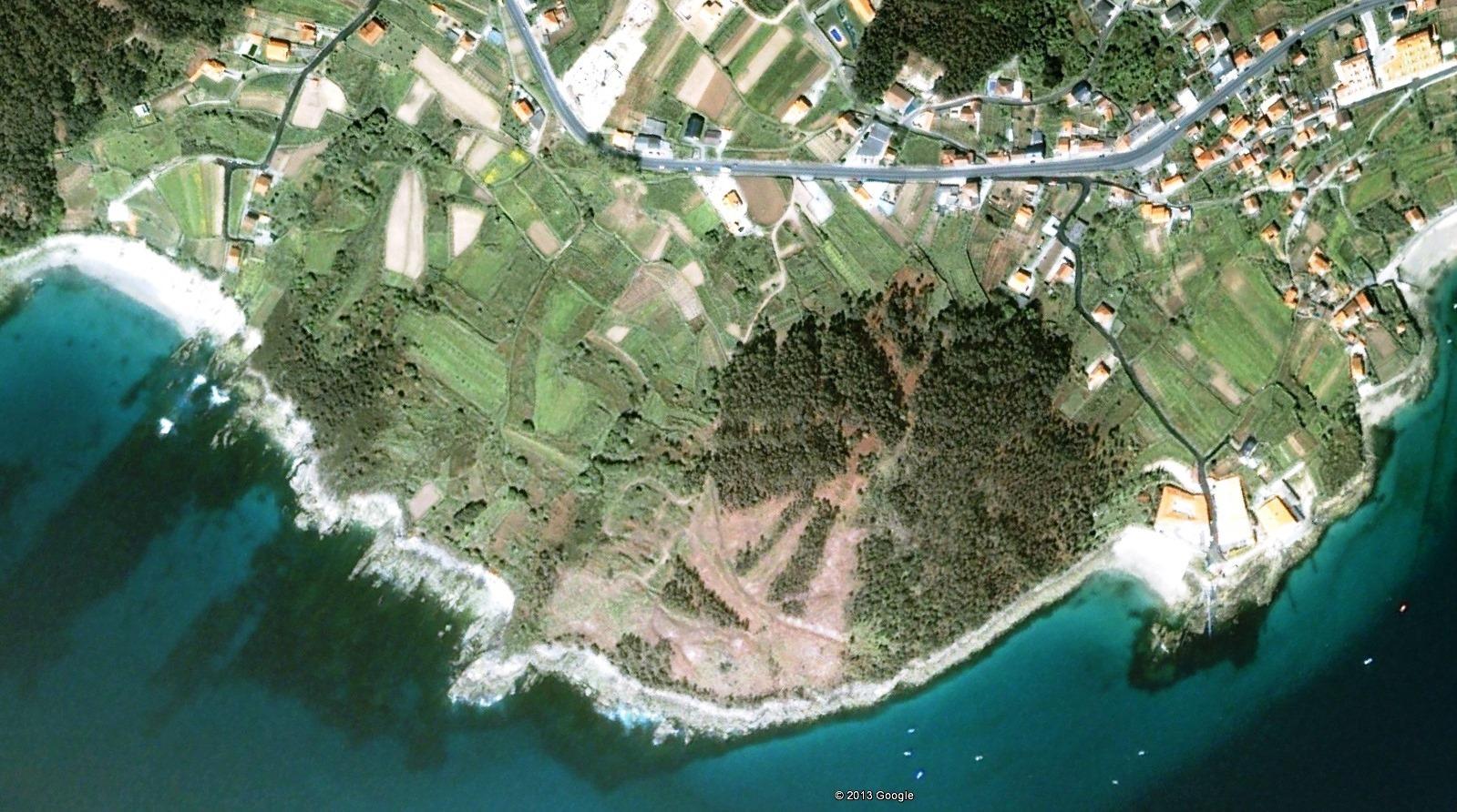 antes, urbanismo, foto aérea, desastre, urbanístico, planeamiento, urbano, construcción, Sanxenxo, Pontevedra, Costa