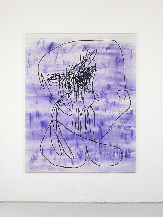 8 Jana Schröder, Spontacts, L 2, 2012, 200 x 160 cm, Kopierstift und Öl auf Leinwand