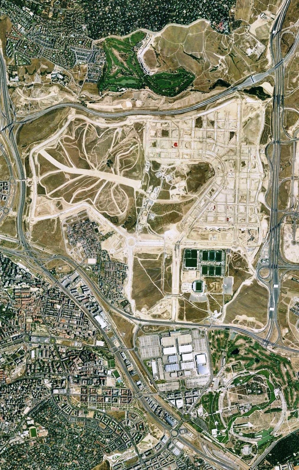 después, urbanismo, foto aérea,desastre, urbanístico, planeamiento, urbano, construcción,Valdebebas, Madrid, Hautôvia