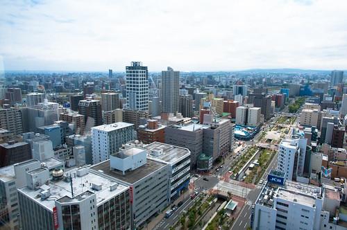 札幌テレビ塔から