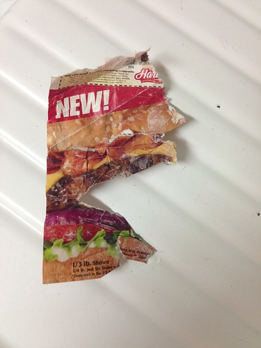 I'm a vegetarian, so there's never meat in the house. The dogs chewed up one piece of mail. It was this.