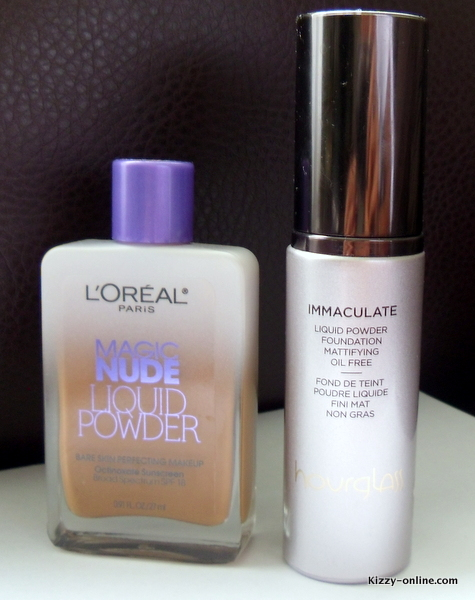 Hourglass Immaculate Liquid Powder Foundation L'Oreal Loreal Magic Nude Liquid Powder Bare Skin Perfecting Makeup SPF 18 Review Reviews Comparison Dupe Dupes Foundations