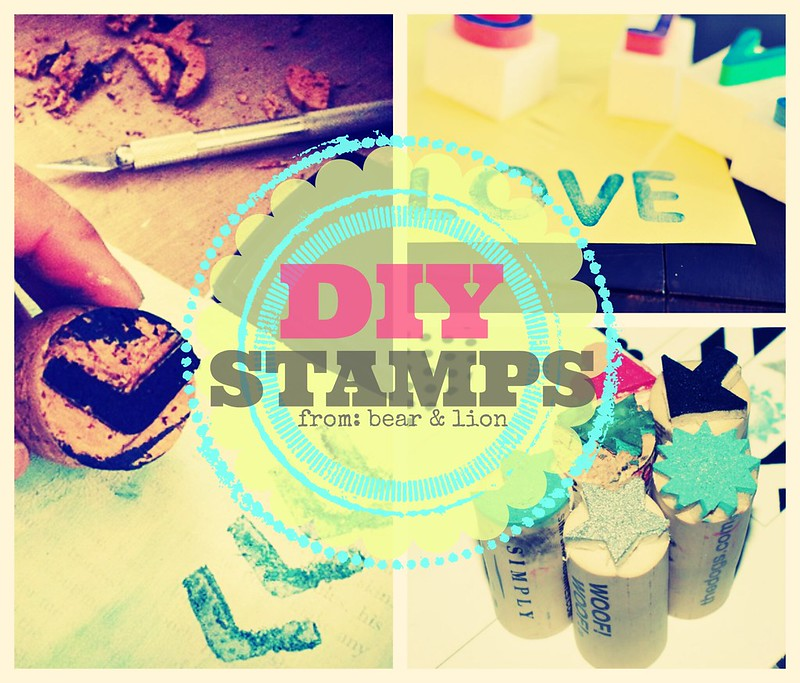 DIY, stamps, gift tags, gift wrap