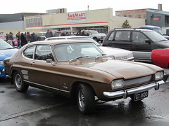 race car, automobile, automotive exterior, vehicle, performance car, automotive design, ford capri, ford, antique car, land vehicle, muscle car, coupã©, sports car,