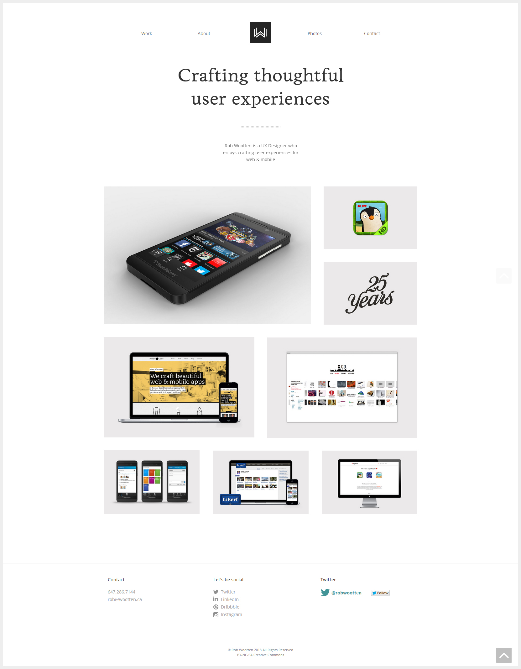 Rob Wootten - Clean Website for Your Inspiration