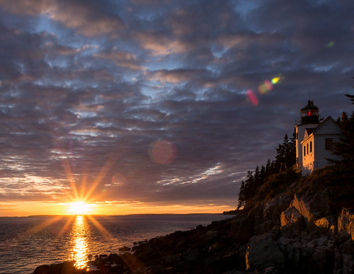 Sunset over Bass Harbor by Peter E. Lee