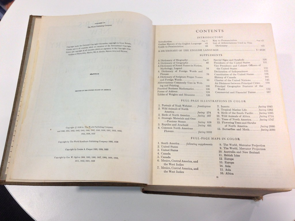 Webster's New Twentieth Century Dictionary 2nd Edition 1958