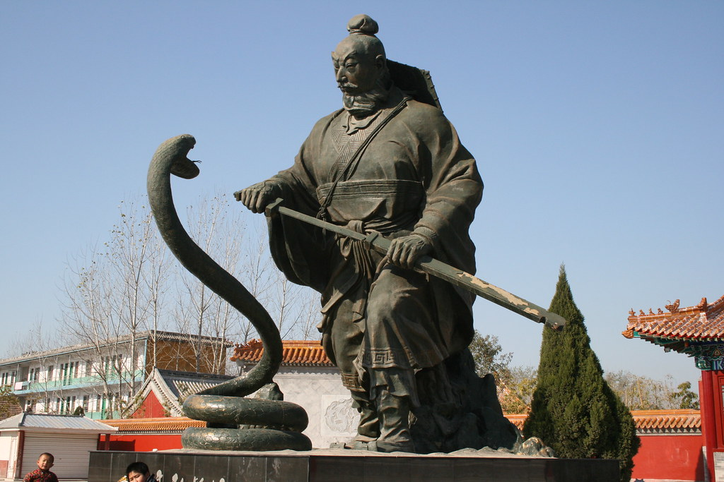 Liu Bang and White Python Statue