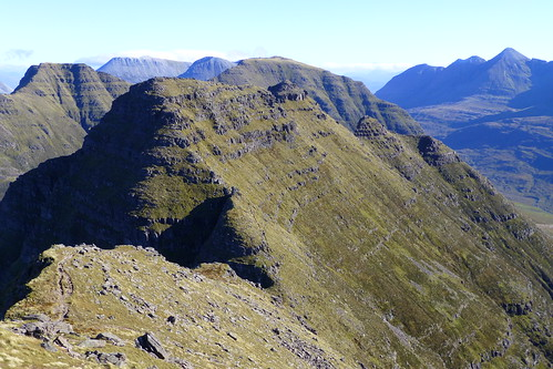 Na Rathean( The Horns Of Alligin), Beinn Dearg Liath and Beinn Eighe