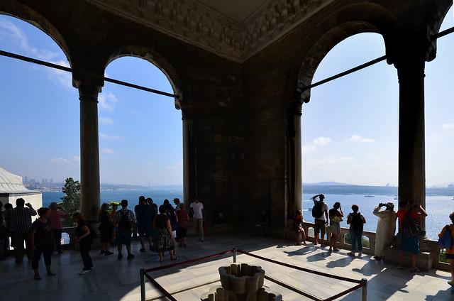 Mirador al Bósforo desde el palacio Topkapi de Estambul