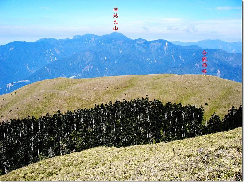 3225峰俯瞰西合歡山 2