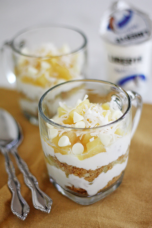 pineapple-macadamia nut parfait